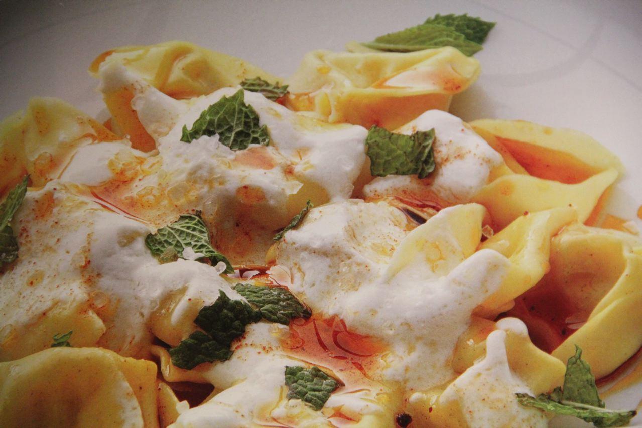 Tortellini with Yogurt, Mint and Smoked Paprika Oil